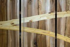 Закройте вверх части деревянного шкафа сделанной различных видов Стоковая Фотография