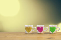Закройте вверх чашки влюбленности стоковые фотографии rf