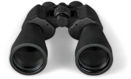 Закройте вверх черное бинокулярного изолированного на белизне Стоковое Фото