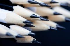 Закройте вверх черно-белого заточенного карандаша Стоковая Фотография