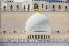 Закройте вверх шейха Zayed Мечети в Абу-Даби, Объединенных эмиратах Стоковые Фото