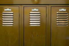 Закройте вверх шкафчиков для хранения и номеров шкафчика Стоковая Фотография
