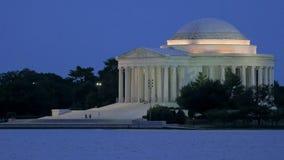 Закройте вверх экстерьера мемориала jefferson в Вашингтоне стоковые фото