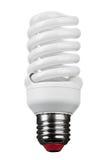 Закройте вверх электрической лампочки на белой предпосылке Стоковая Фотография