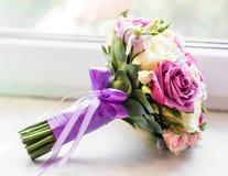 Закройте вверх bridal букета свадьбы Стоковые Фотографии RF