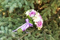 Закройте вверх bridal букета свадьбы Стоковая Фотография RF
