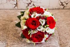 Закройте вверх bridal букета свадьбы Стоковое Фото