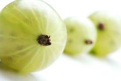 Закройте вверх gooseberrys на белой предпосылке Стоковое фото RF