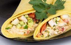 Закройте вверх Shawarma с цыпленком и петрушкой Стоковое Изображение RF