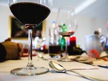 Закройте вверх tableware муравья обедающего во время еды праздника Запачканный, Стоковая Фотография RF