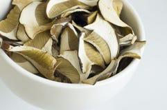 закройте высушенные грибы вверх Стоковое Изображение RF
