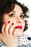 закройте лицевая сторона женщину Стоковая Фотография RF