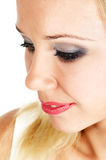 закройте лицевая сторона женщину Стоковое фото RF