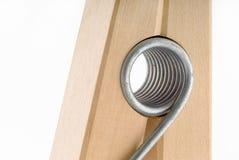 закройте оденьте закрутку вверх по деревянному Стоковые Изображения RF