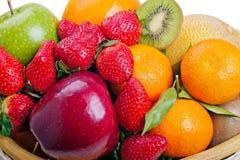 закройте цветастые плодоовощи вверх Стоковые Изображения RF