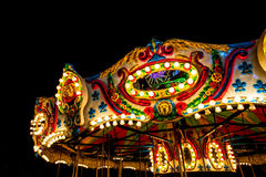 закрутка ночи carousel нерезкости Стоковые Изображения RF