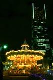 закрутка ночи carousel нерезкости Стоковое Изображение RF