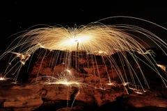 Закрутка огня Стоковое Изображение RF