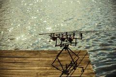 Закрутка удя, двигающ под углом, улавливая рыбы стоковое изображение