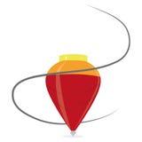 Закрутка шаржа красная изолированная на белой предпосылке Стоковое Изображение RF