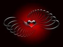 закрутки красного цвета сердца Стоковое Фото