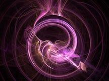закрученный пурпур фрактали Стоковые Изображения RF