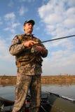 закручивать людей рыболовства стоковое фото