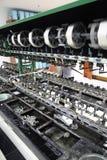 закручивать машины silk стоковое изображение rf