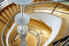 закручивают в спираль лестницы Стоковое Фото