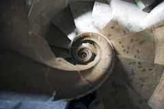 закручивая в спираль лестницы Стоковое Изображение