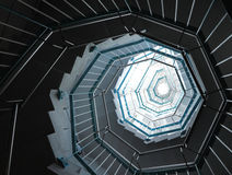 закручивая в спираль лестницы Стоковые Изображения RF