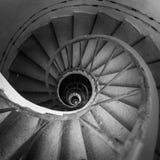 закручивая в спираль лестницы Стоковое Изображение RF