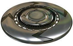 Закручивая диск металла иллюстрация вектора