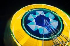 Закручивая колесо Ferris на ноче Стоковое Изображение
