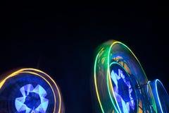 Закручивая колесо Ferris на ноче Стоковые Фотографии RF