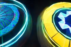 Закручивая колесо Ferris на ноче Стоковые Изображения RF