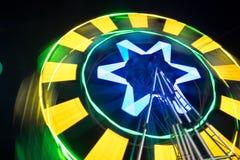 Закручивая колесо Ferris на ноче Стоковая Фотография RF
