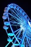 Закручивая колесо ferris на свете ночи Стоковое Фото