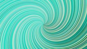 Закручивая красочная воронка изогнутых линий, безшовная петля r Торнадо красивой бирюзы вращая, гипнотик иллюстрация вектора