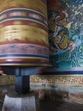Закручивая молитва катит внутри Бутан Стоковая Фотография RF