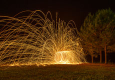 Закручивая пожар Стоковое Фото