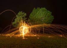Закручивая пожар Стоковые Фото