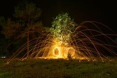 Закручивая пожар Стоковое фото RF