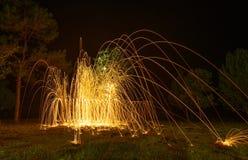 Закручивая пожар Стоковое Изображение RF