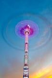 Закручивая светлая башня 1 Стоковые Изображения