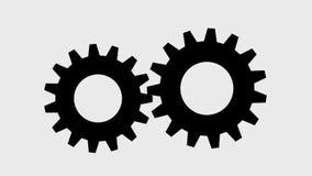Закручивая шестерни, видео с прозрачной предпосылкой иллюстрация вектора