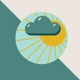 закрывает солнце облака Стоковое фото RF