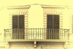 2 закрыванных двери Стоковая Фотография