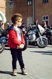 Закрывать 6-ого motoseason ассоциацией одичалого велосипедиста MCC в Украине Ivano-Frankivsk Стоковая Фотография