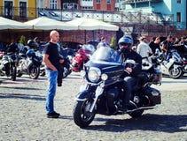 Закрывать 6-ого motoseason ассоциацией одичалого велосипедиста MCC в Украине Ivano-Frankivsk Стоковые Фотографии RF